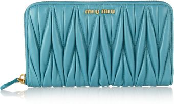 Miu Miu Matelassé Leather Continental Wallet - Lyst