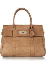 Mulberry The Bayswater Croc Effect Leather Bag - Lyst