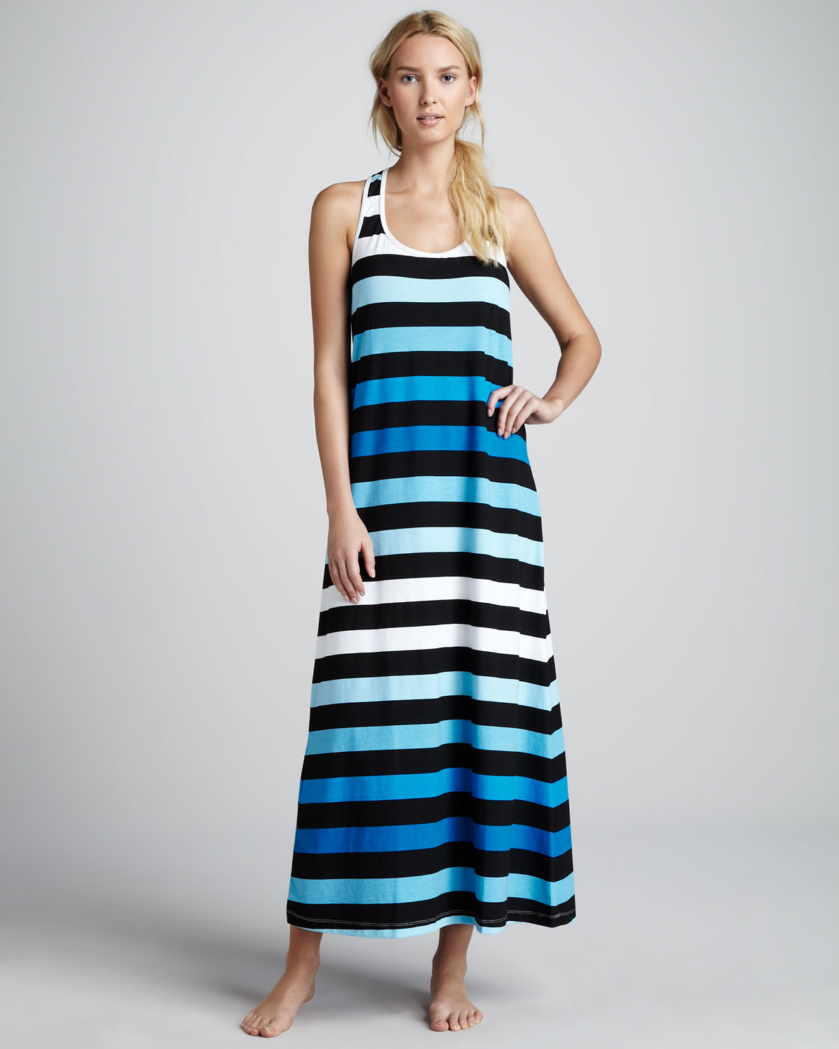 Tommy bahama Bermuda Striped Maxi Dress in Blue - Lyst