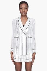 3.1 Phillip Lim White Silk Piped Pajama Blouse - Lyst