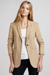 Elizabeth And James Heather Ruched Sleeve Blazer - Lyst