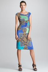 Etro Asymmetric ruched Dress - Lyst