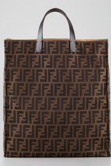Fendi Zucca Always Shopper Tote Bag Tobaccobrow - Lyst