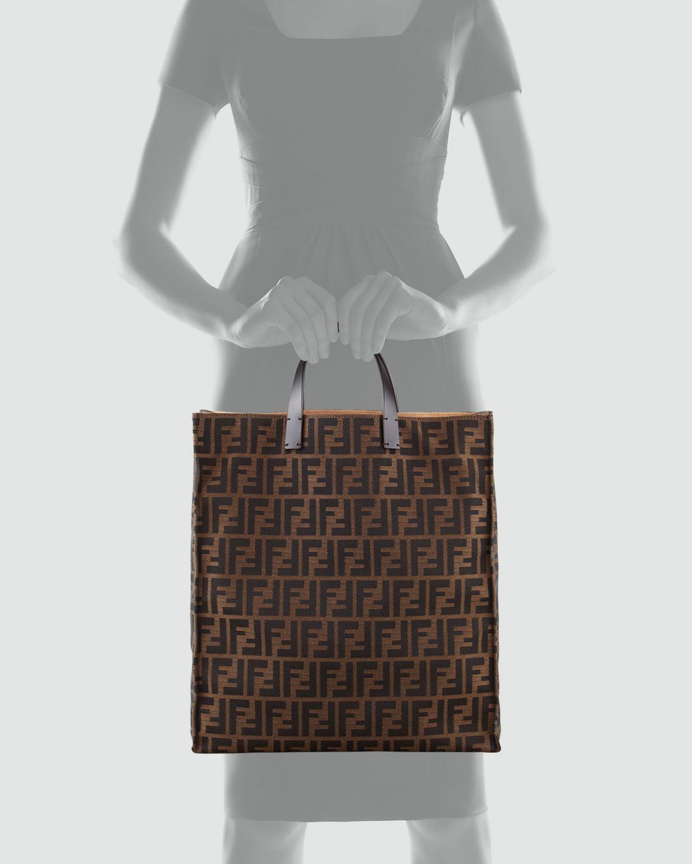 5645949b98a Fendi Zucca Always Shopper Tote Bag Tobaccobrown in Brown - Lyst