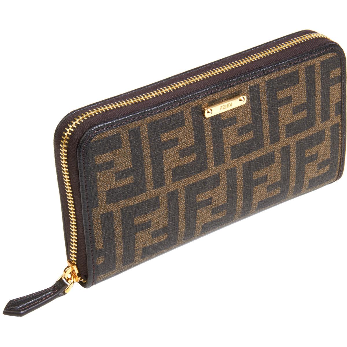6fd832a11322 ... good fendi zucca zip around wallet in brown lyst 3d9a4 971ee