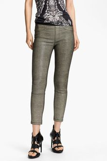 Helmut Lang Rift Stretch Leather Crop Leggings - Lyst