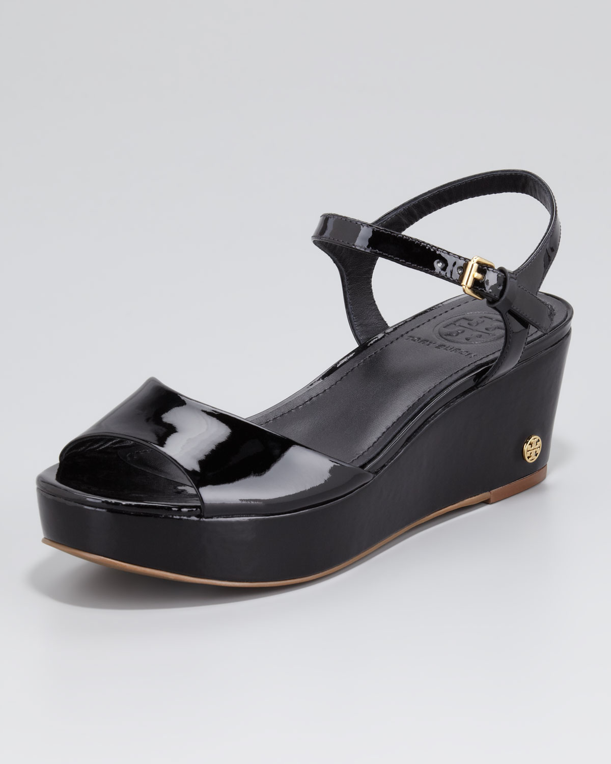 Lyst Tory Burch Abena Flatform Wedge Sandal In Black