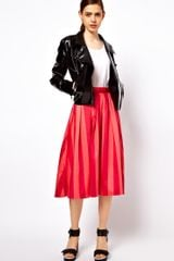 ASOS Collection Midi Skirt in Bold Stripe - Lyst