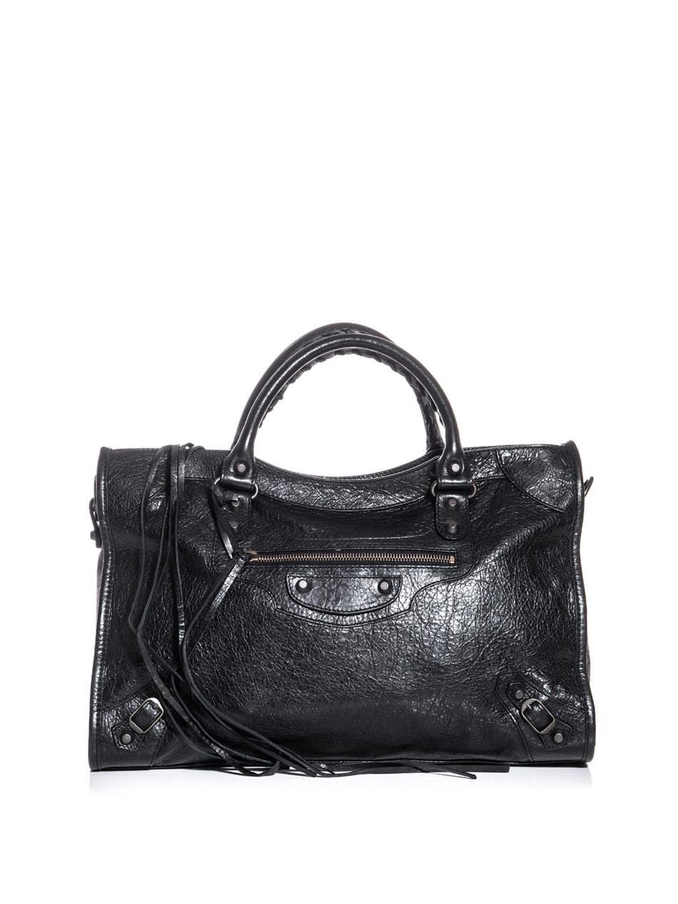 balenciaga classic city bag in black lyst. Black Bedroom Furniture Sets. Home Design Ideas