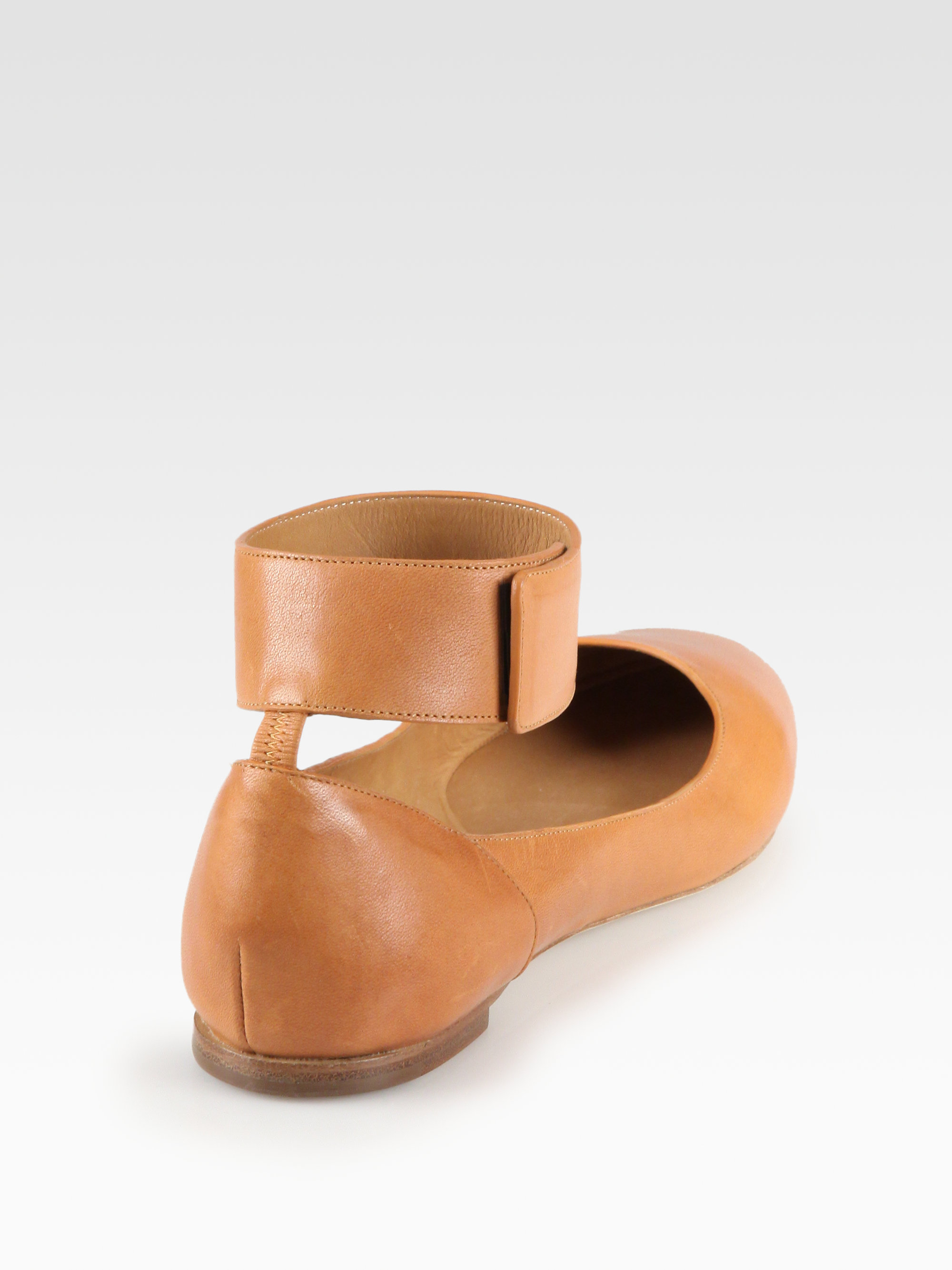 visa payment for sale Chloé Leather Ankle-Strap Flats cheap sale latest collections SN34NfWp