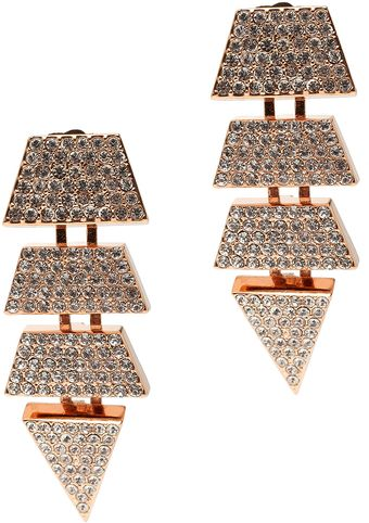 Eddie Borgo Pave Scaled Triangle Earrings - Lyst