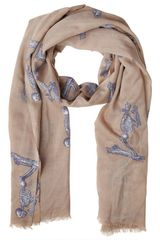 Elsa Marotta Praying Skeleton Cashmere Scarf - Lyst