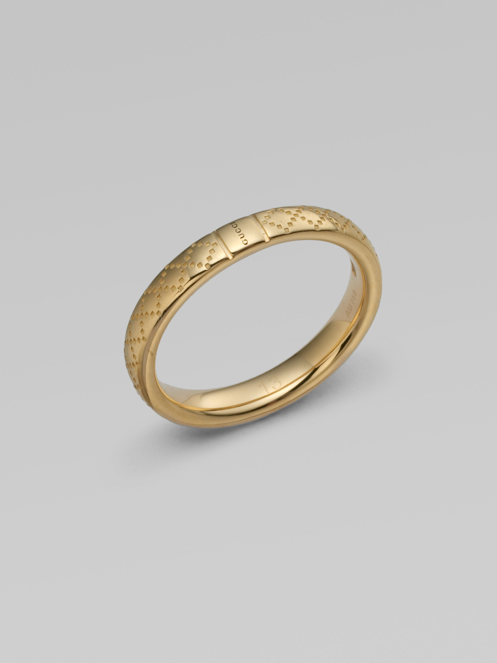 Lyst - Gucci 18k Gold Ring in Metallic
