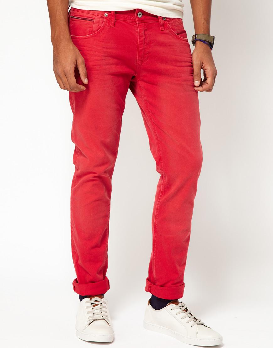 Mens Slim Tapered Jeans
