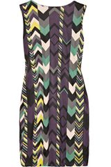 M Missoni Printed Gathered Jersey Dress - Lyst