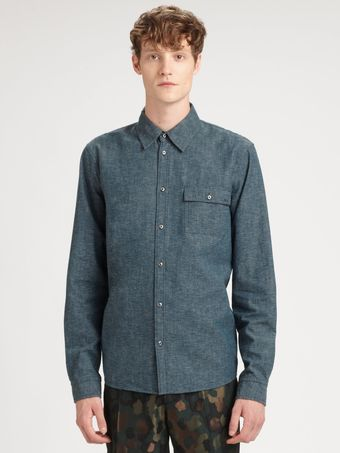 Marc By Marc Jacobs Bergen Chambray Shirt - Lyst