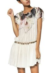 Maurizio Pecoraro Printed Silk Georgette Dress - Lyst