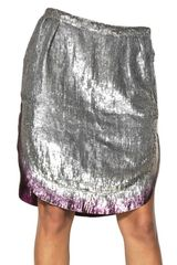 Maurizio Pecoraro Sequined Silk Georgette Skirt - Lyst