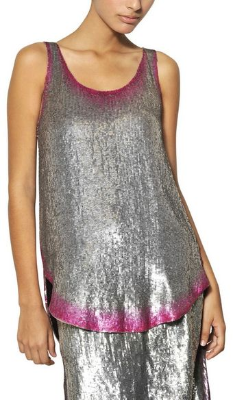 Maurizio Pecoraro Sequined Silk Georgette Top - Lyst