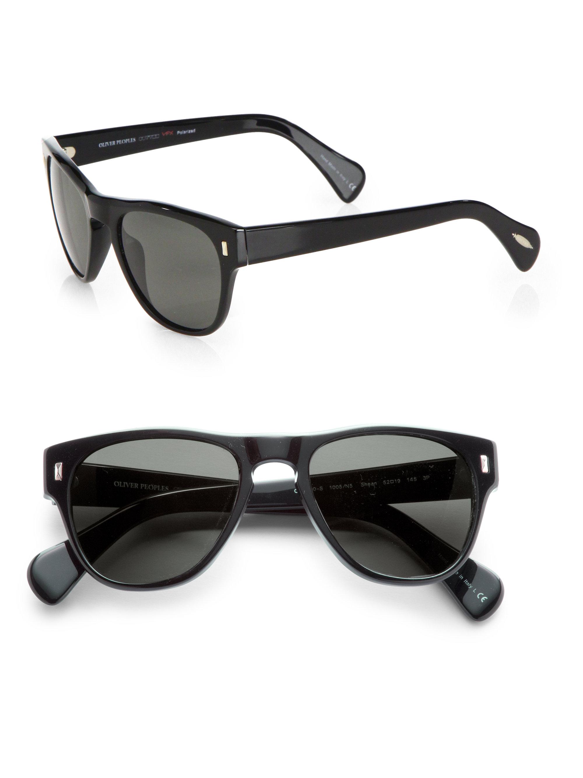 e8363b6490 Lyst - Oliver Peoples Shean Unisex Acetate Sunglasses in Black