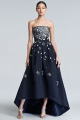 Oscar de la Renta Embellished High-Low Gown - Lyst