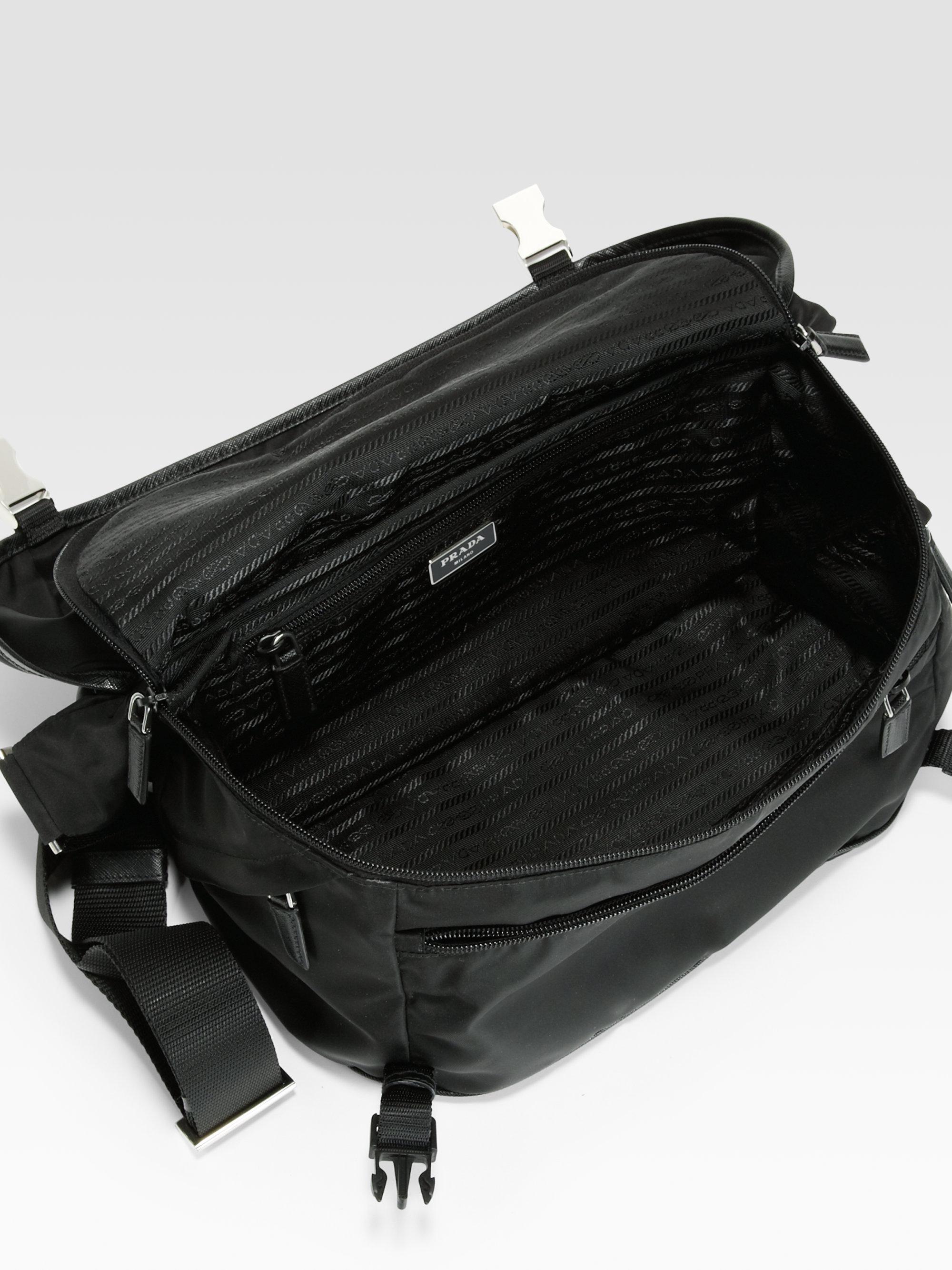 8130429ee9daaf ... germany lyst prada small nylon shoulder bag in black for men e6db9 68e92