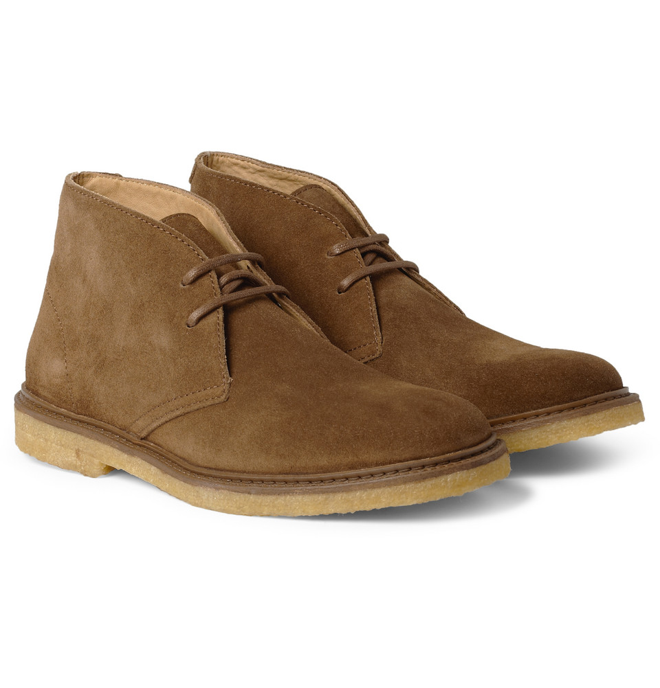 a p c suede desert boots in brown for lyst
