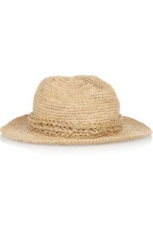 Burberry Shoes & Accessories Straw Trilby - Lyst