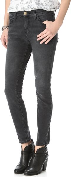 Current/Elliott High Waisted Cropped Skinny Jeans - Lyst
