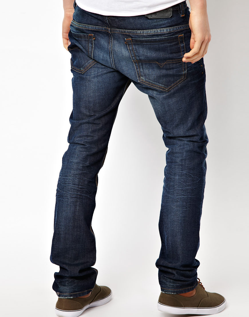 Our men's slim straight jeans are slim through the seat and thigh and then offer a straight leg that provides a long, lean look. These men's denim jeans offer a versatile fit that add a modern touch to the everyday wardrobe.