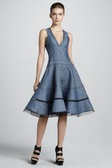 Donna Karan New York Denim Fit-and-flare Dress - Lyst