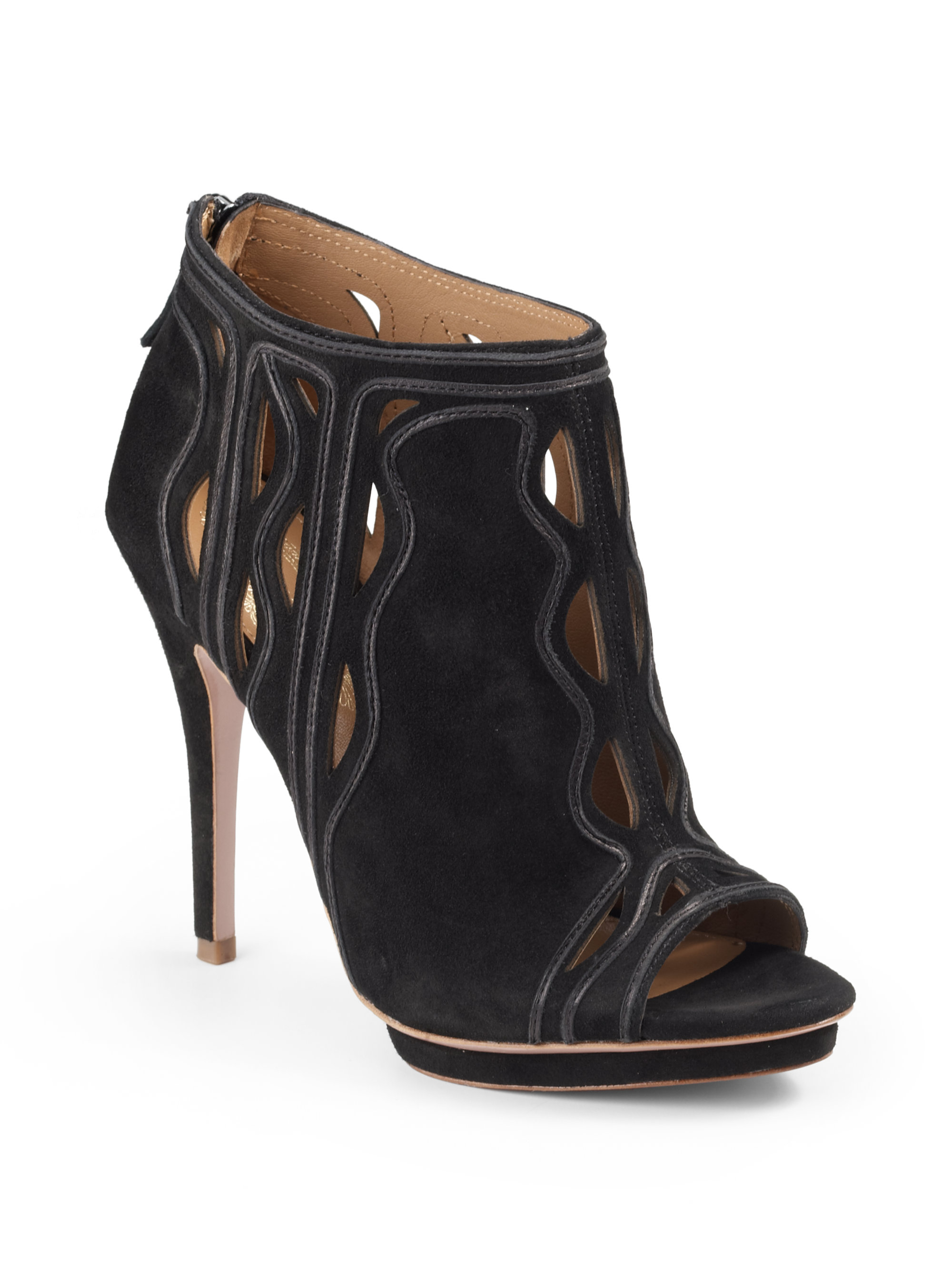 elie tahari theora ankle boots in black lyst