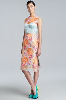 Erdem Floralembroidered Sheath Dress - Lyst