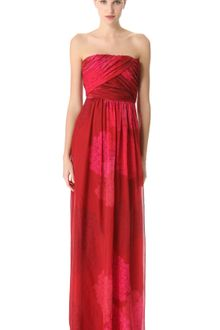 Giambattista Valli Gathered Strapless Gown - Lyst
