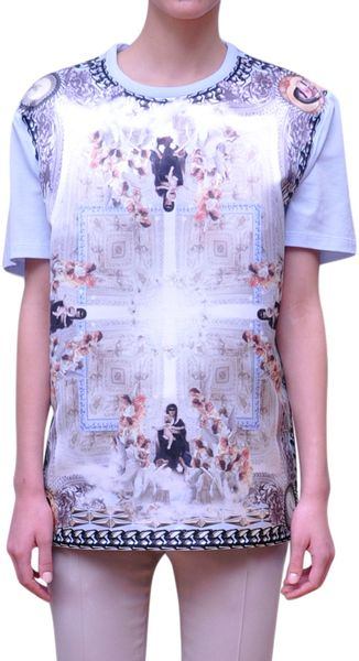 Givenchy Printed Cotton T-Shirt - Lyst