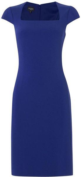 Hobbs Roux Dress in Blue (sea)