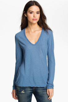 James Perse Vneck Tee - Lyst
