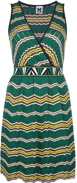 M Missoni Vneck Knit Dress - Lyst
