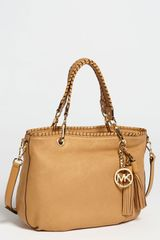 Michael by Michael Kors Bennet Medium Glazed Nubuck Tote - Lyst
