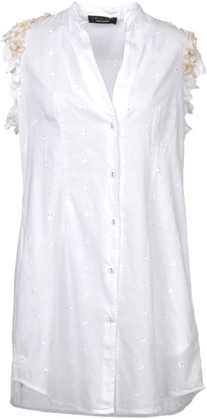 Twin-set Simona Barbieri Sleeveless Shirt - Lyst