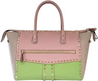 Valentino Tricolored Rockstud Bag - Lyst