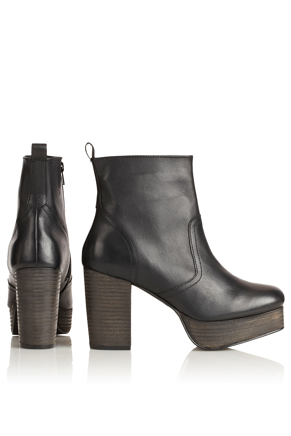 topshop aliyah 90s chunky ankle boots in black lyst