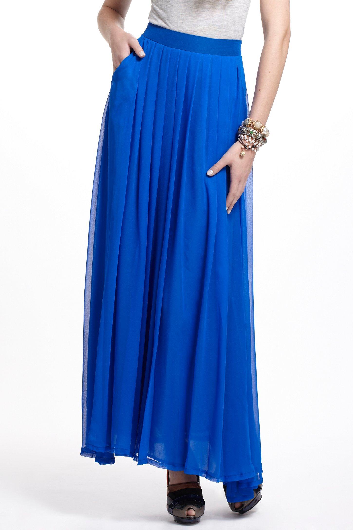 Charlie jade Aerophone Silk Maxi Skirt in Blue | Lyst