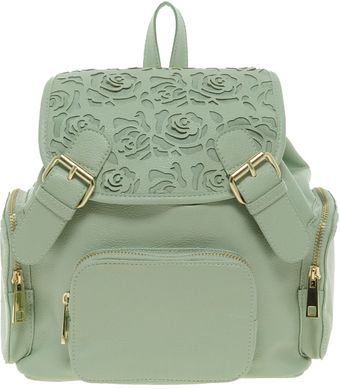 Asos Backpack with Mini Floral Cut Out - Lyst
