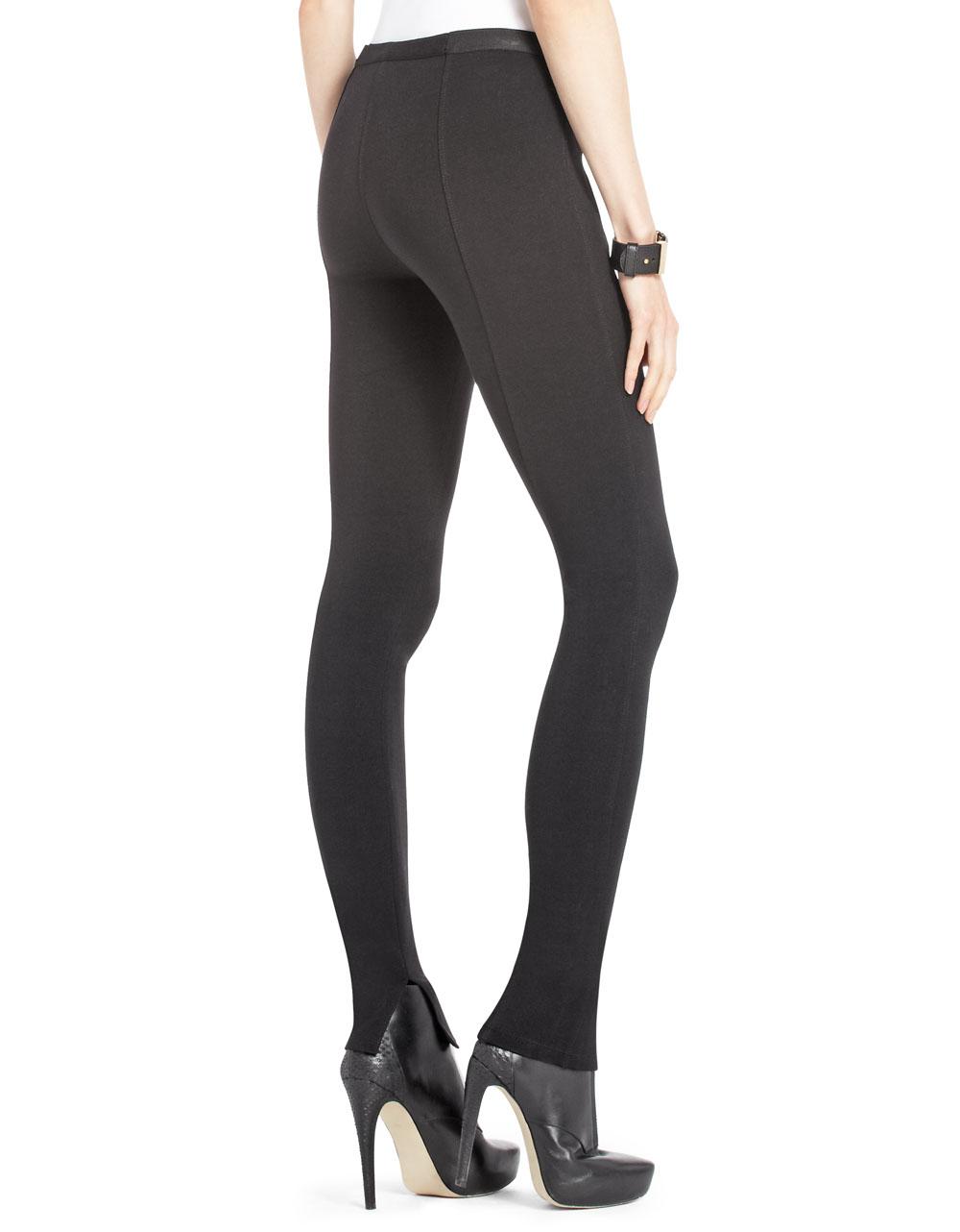 lyst - bcbgmaxazria sissy zipper pocket leggings in black