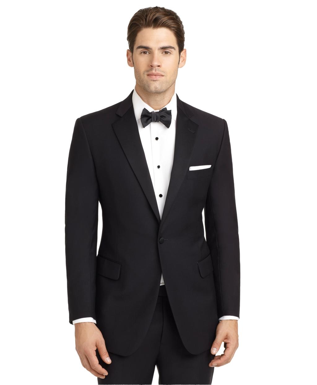 Tuxedo: Brooks Brothers Ready-made Regent Fit Tuxedo Jacket In