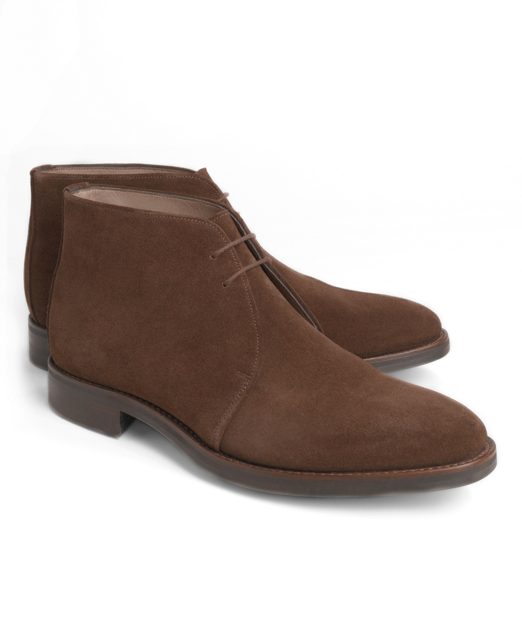 brothers peal co brown suede chukka boots in brown