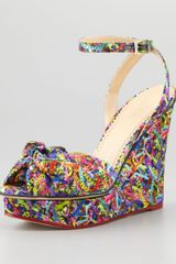 Charlotte Olympia Wedge Sandals with Ankle Straps - Lyst