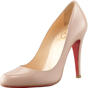 Christian Louboutin Decollete Jazz Red Sole Pump Nude - Lyst