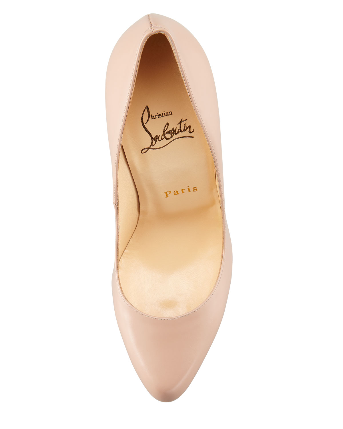 louboutin loafer - Christian louboutin Decollete Jazz Red Sole Pump in Beige (nude ...